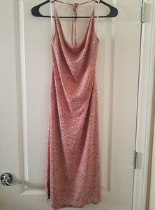 BCBG halter floral dress